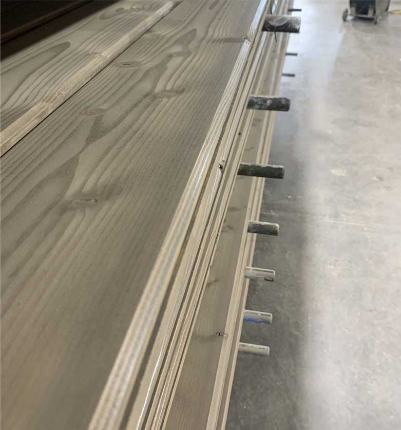 Decking Timber with tongue and groove for roofing