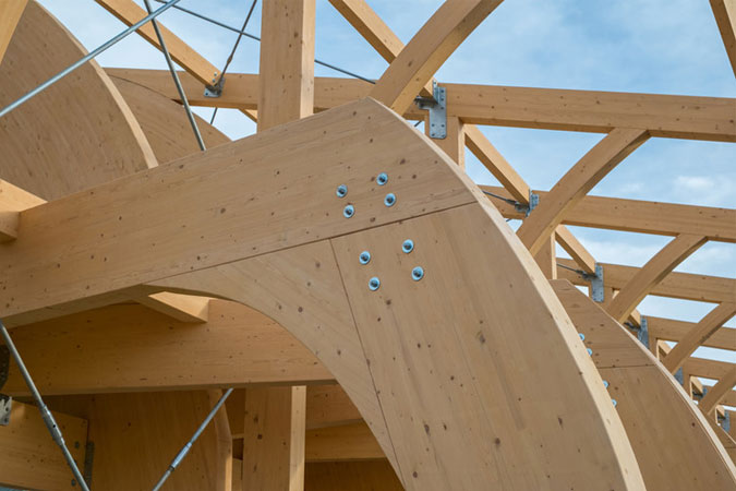 Glulam engineered SPF Timber beam for assembly